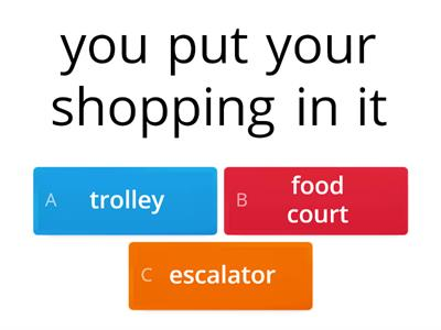 Shopping - vocabulary