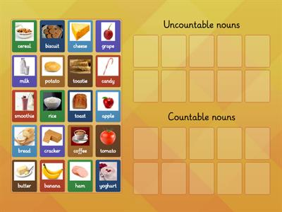 Countable & Uncountable food items