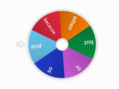 Conjunctions spinner