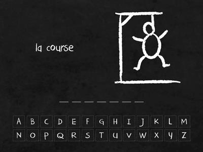 French Sports - hangman