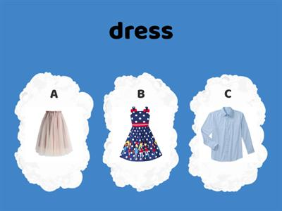 Clothes Choose the correct answer
