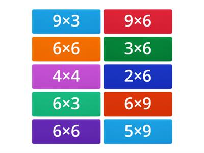 Multiplication tiles, medium