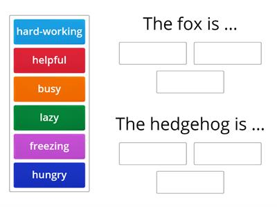 The Fox and the Hedgehog adjectives