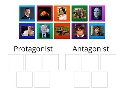 Famous characters - protagonist vs. antagonist