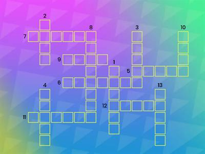 Shared r-Controlled Vowels Crossword