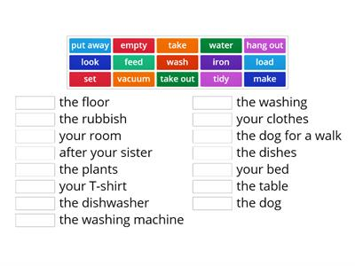 GoGetter-3. Unit 1.1. Household chores. Calllocations