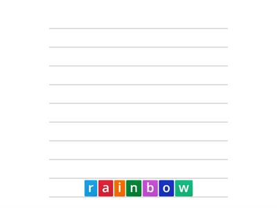 How many words can you make with the letters in rainbow?
