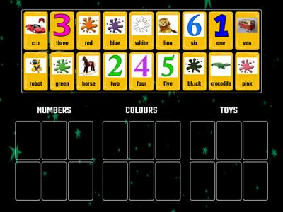 COLOURS,NUMBERS AND TOYS