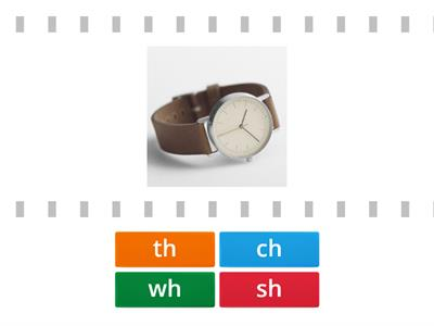 match the digraph wh, th, sh, ch