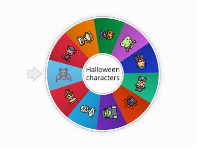 Halloween characters (spin the wheel)
