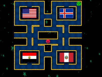 Countries and Flags- Maze Game 1