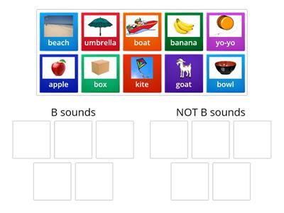Sorting B sounds