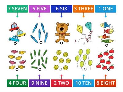 REVISION Numbers 1-10  - how many?