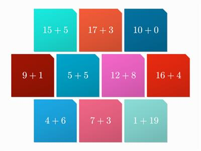 Maths tiles game