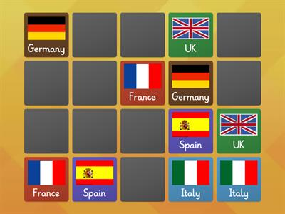 Matching Pairs - European Flags