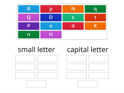 grouping capital letter and small letter