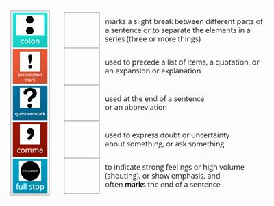 Punctuation Marks- Matching
