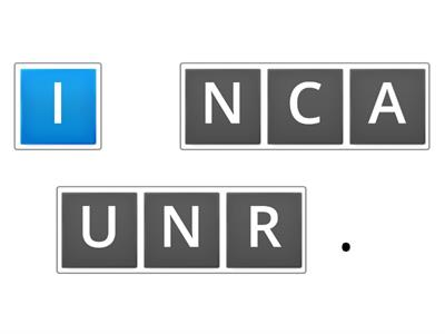 UNSCRAMBLE - CAN + ACTIONS