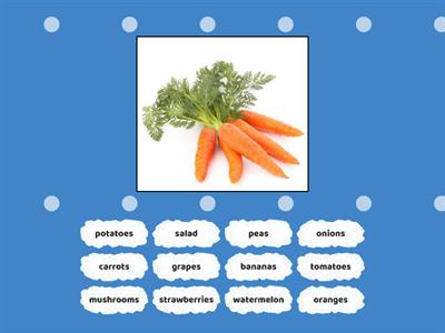Fruits and Veggies- Unit 6- find