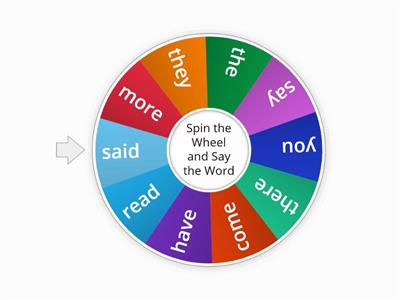 Sight Word Wheel