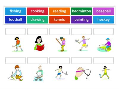 Unit 9: match up - sports and hobbies