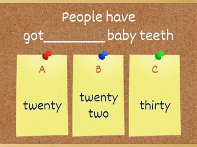 TEETH FACTS - CLIL 5 PAGE 133