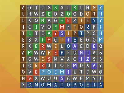 Poetic Device Wordsearch