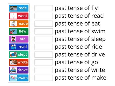 Past tenses - Irregular Verbs