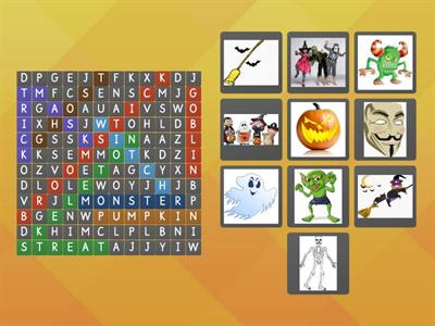 Find Halloween Words
