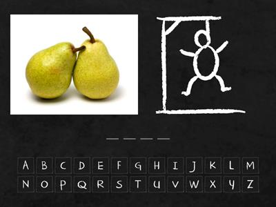 FRUITS AND VEGETABLES (hangman)