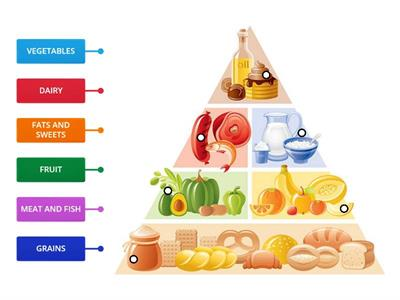 Food pyramid labels