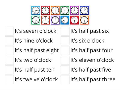 Telling the Time 3b