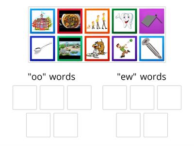 "Sort ""oo' and ""ew"" words"