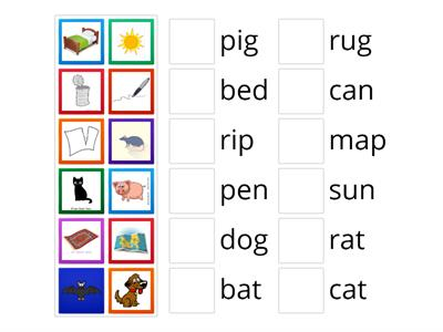 Fundations Word-Picture Match U2W1