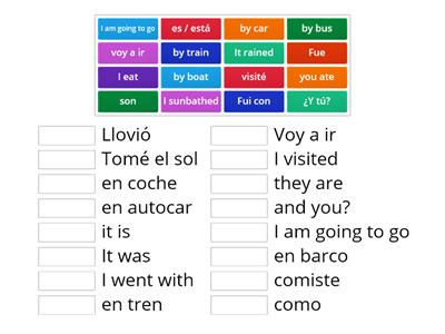 Spanish verbs   (Match up)