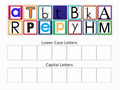 sorting into capitals and lower case