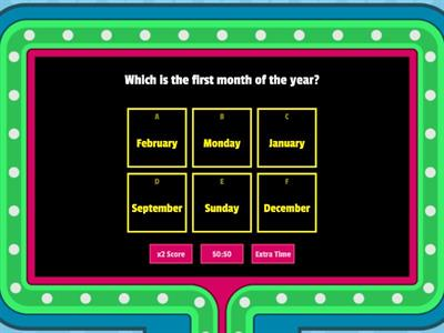 Days and Months quiz