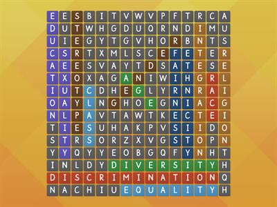 Diversity wordsearch
