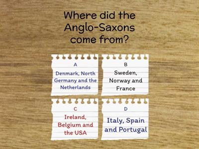 Anglo-Saxon Quiz - test the parents!