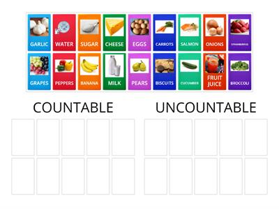 COUNTABLE and UNCOUNTABLE nouns