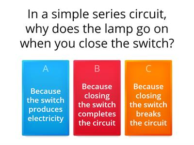 Electrical Circuits quiz
