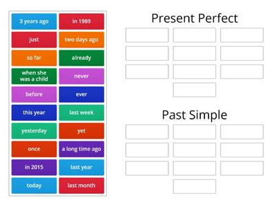 Present perfect- past simple - expressions