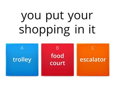 shopping centres vocab