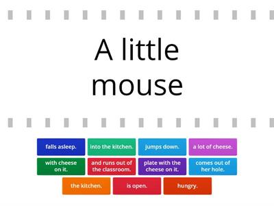 The Little Mouse - read and match