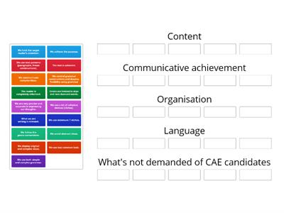CAE Writing Criteria