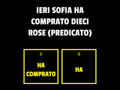 Copy of SOGGETTO E PREDICATO
