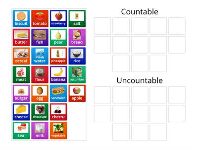 Go getter 2_2.2 Countable and Uncountable Food