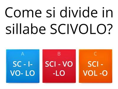 Copia di DIVISIONE IN SILLABE
