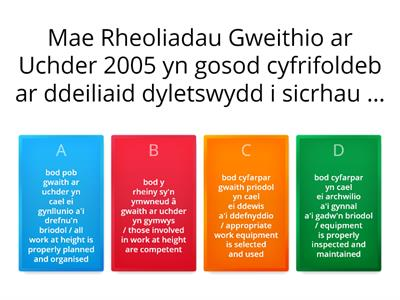 Working at Height - Cymraeg / Bilingual