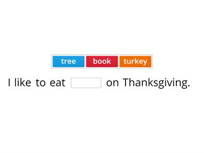 Thanksgiving sentences